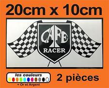 2x Stickers Café Racer - bobber scrambler chopper custom 20x10cm