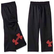 NWT UNDER ARMOUR Storm Boys Armour Fleece Big Logo Pants Black/Red Size XL (18)