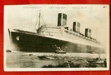 "SHIP OCEAN LINER "" QUEEN MARY "" VINTAGE PHOTO POSTCARD 2562"