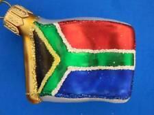 Flag South Africa European Blown Glass Christmas Tree Ornament