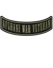 AFGHANI WAR VETERAN Large Military Rocker/Tab Patch for Vests or Jackets