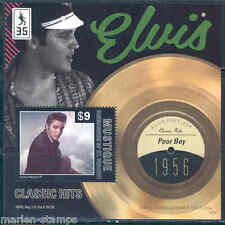 MUSTIQUE 2012 'ELVIS PRESLEY'  POOR BOY  RECORD SOUVENIR SHEET MINT NH