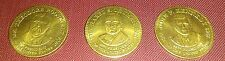 """3"" - 1992 Shell Oil Bronze Presidential Collector Coins TR,Truman, JFK  VFC"