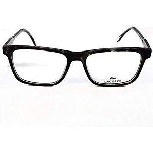 NEW LACOSTE L2852 215 Grey Havana Eyeglasses 53mm with Lacoste Case