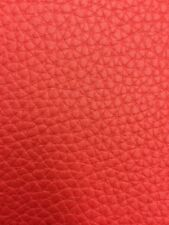 "TEXTURED PVC VINYL LEATHER FABRIC - Red - 55"" WIDTH SOLD BTY"