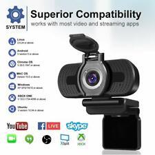 Laptop Camera 1080P Webcam HD Lens Cover Live Streaming Desktop Video