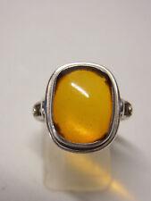 Fischland bernsteinring Ambre Amber argent 925 Bague taille 60 Bague Nº 64