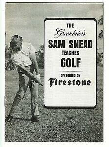 1966 Greenbriers SAM SNEAD Teaches Golf Advertising Booklet FIRESTONE TIRE