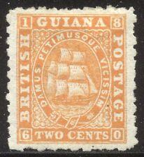 British Guiana #51 Unused - 1866 2c Orange ($65)