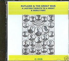 RUTLAND & THE GREAT WAR CD ROM