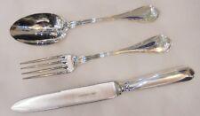 Servizio Tre Posate Argento 800 Calegaro Stile Settecento-Three silver cutlery