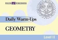 Daily Warm-Ups: Geometry (Daily Warm-Ups Math Series Ser)-ExLibrary