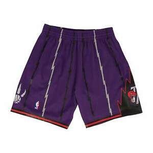Mitchell & Ness Purple NBA Toronto Raptors 1998-99 Alternate Swingman Shorts