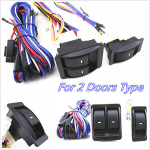 Practical 12V Car Power Door Window Glass Lift Switch Wiring Harness Cable