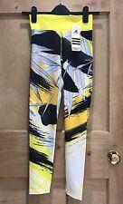 Adidas Tights SIZE XS 6 BNWT ASIA Yellow Black Yellow Geometric Print