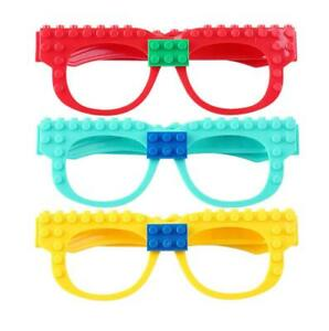 kids Glasses Bricks Filler Building Blocks Glasses Baseplate DIY fun play