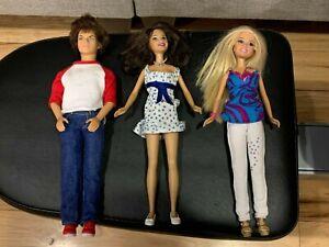 High School Musical Ready For Summer Troy Gabriella Sharpay Dolls Pink Golf Cart