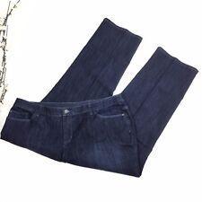 CJ Banks Women Size 18W Petite Dark Wash Comfort Waist Jeans Stretch