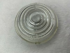 WILLYS WAGON JEEPSTER KAISER GLASS PARKING LIGHT LENS FITS 50-51 (1 MOUNT HOLE)