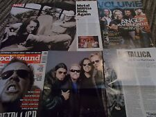 METALLICA  CELEBRITY  CLIPPINGS PACK OVER 100  GOOD CONDITION