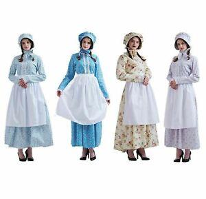 Reenactment Women Dress Colonial  Costume Pioneer Dress Puritan Skirt Civil War