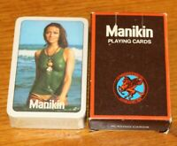 Vintage 1970s Brand New Sealed Full Pack of Manikin Cigars Playing Cards Pin Up