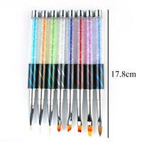 Nail Art UV Gel Liner Painting Pen Gradient Brush Rhinestone Manicure nEW