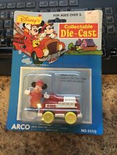 New listing Disney'S Collectible Die Cast Fire Truck Mickey Mouse Arco # 6059 Mattel