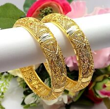 INDIAN Asiatico Taglia: 2.8 Abiti da Sposa Gioielli etnici Wear 22ct Gold Plated Bracciali