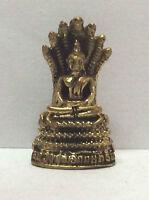 Figuren amulett  miniatur statuette b43 - Buddha Naga Kambodscha Messing Bronze