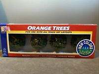 "Model Train RR Railroad Life-Like Orange Trees qty4 - 3"" Tall for HO N O S Scale"