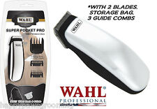 WAHL Cordless HORSE EQUINE SUPER POCKET PRO Trimmer/Clipper&2 Blades,Guide Combs