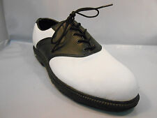 Nike Tour Jr. White and Black Saddle Style Golf Shoes Youth Size 5.5 Y / 38 Euro