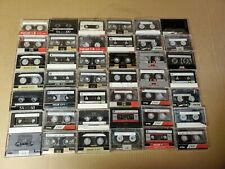 Lot 160 Various Brands Cassette Tapes Audio Stereo Used Vintage - Recorded Once