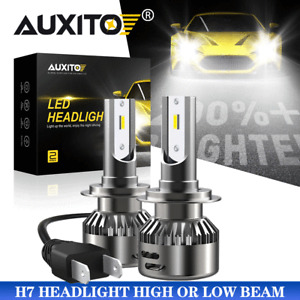 AUXITO H7 LED Headlight Bulb Kit High Low Beam 6000K HID White 9000LM High Power