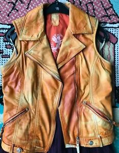 Weste Damen, Gr. S, Farbe Fuchs, aus Leder