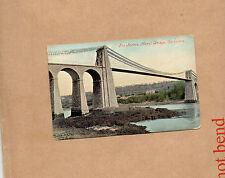 Wales the Menai straits Bridge Carnarvon tinted valentines and son ao1