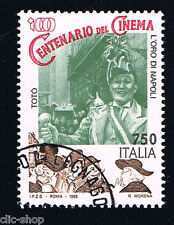 ITALIA 1 FRANCOBOLLO CINEMA L'ORO DI NAPOLI 1995 usato