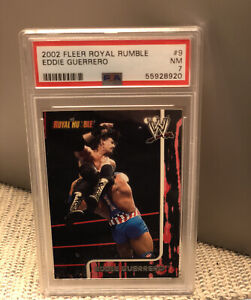 2002 Fleer Royal Rumble Eddie Guerrero PSA WWE WWF WCW Mysterio Wrestling AEW