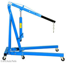 2 Ton Hydraulic Folding Engine Crane Hoist Lift Stand 2000kg Garage Workshop
