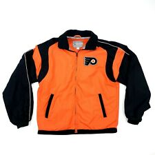 Philadelphia Flyers Jacket Embroidered Patch Jacket Orange Sz M