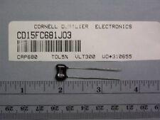 20 CD CD15FC681JO3 680pF 300V 5% Mica Capacitors