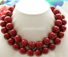 """Huge 34"""" 18mm nature round red coral bead necklace"""