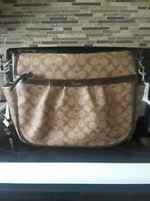 Brown coach diaper bag used