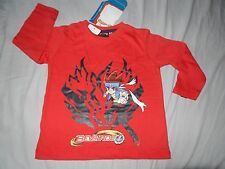 SUPERBE  T-SHIRT ML ROUGE   BEYBLADE   T2-3 ANS   NEUF