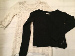 2 Girls Sweaters ~ Sz M 7/8 ~ Abercrombie, Cherokee