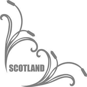 Scotland truck cab window stickers (pair) bullrush scroll scotish