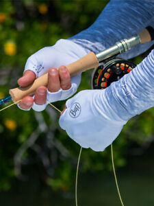 Buff Solar Fishing Water Gloves-UPF 40+ Sun Protection-Pick Color/Size-Free Ship
