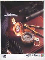PUBLICITÉ DE PRESSE 1985 ALFA ROMEO POUR COURIR LA TERRE - BOUSSOLE