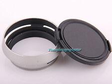 Metal Lens Hood LA-49X100 Adapter Ring + Lens cap For FUJIFILM Fuji X100 X100s